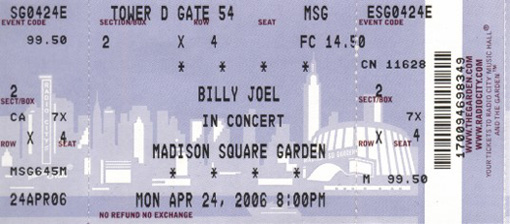 Billy Joel MSG April 24 2006